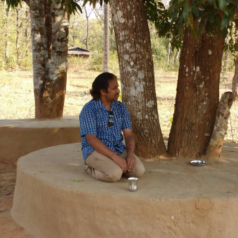 Famous musician Mr. Muttukumar in relaxing mood